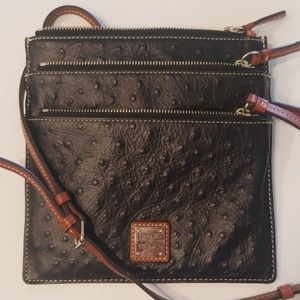 Dooney & Bourke Ostrich Black Crossbody Purse Bag